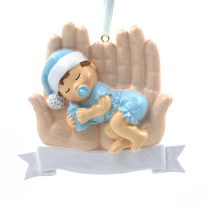 Baby With Hands Personalized Christmas Tree Ornament