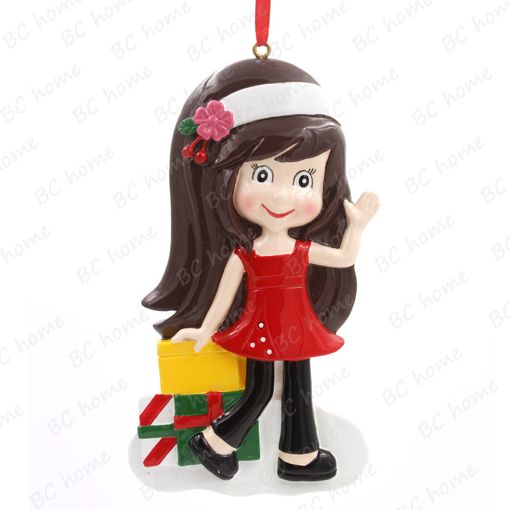 Shopping Girl Personalized Christmas Tree Ornament
