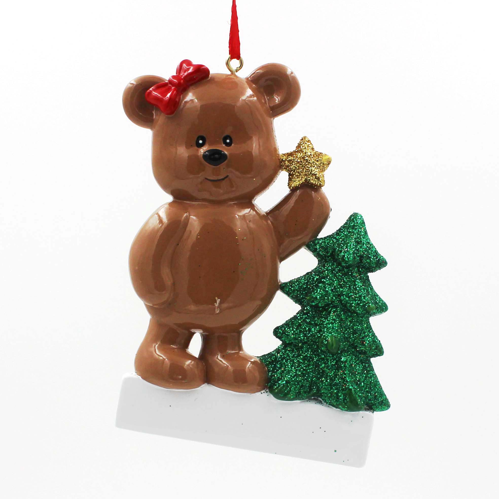 Bear with tree Ornaments Personalized Christmas Tree Ornament