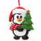Penguin With Xmas Tree Personalized Christmas Tree Ornament