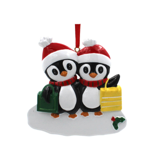 Shopping Penguin Family Of 3 Personalized Christmas Tree Ornament