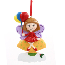 Butterfly Girl Ornament Personalized Christmas Tree Ornament