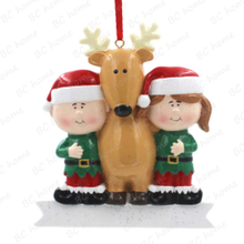 Children With Reindeer Ornament Personalized Christmas Tree Ornament