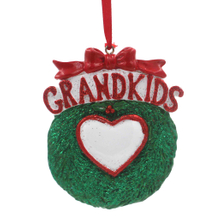 Single Grandkids Family Of 6 Personalized Christmas Tree Ornament
