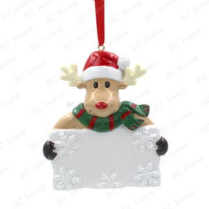 Reindeer Hold Board Ornament Personalized Christmas Tree Ornament