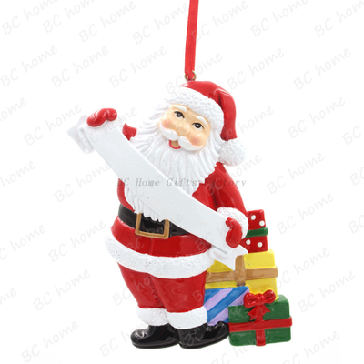 Santa Claus Ornament Personalized Christmas Tree Ornament