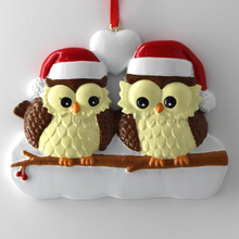 Owl Family Of 6 Personalized Christmas Tree Ornament