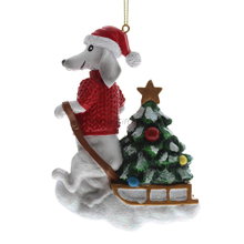 Personlized 3D Chritmas Tree and Dog Ornament