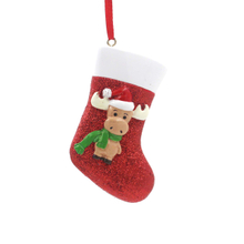 Deer With Sock Ornament Personalized Christmas Tree Ornament