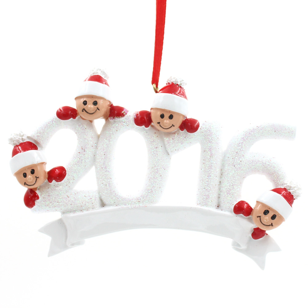 2016 Ornament Family Of 8 Personalized Christmas Tree Ornament