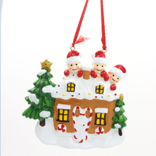 Gingerbread House Family Of 6 Personalized Christmas Tree Ornament