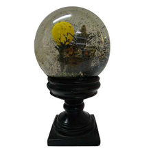 haunted house halloween water globe