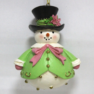 Resin Snowman Gentleman Party Christmas ornament