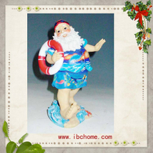 Surfing Santa claus ornaments,christmas tree ornaments