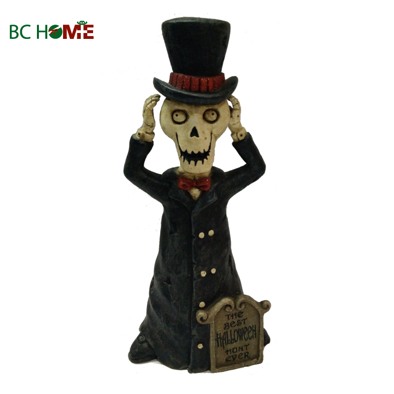 skeleton man with tombstone halloween gift