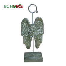 Angle Wing Polyresin Business Card Holder